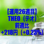 【運用26週目】THEO(テオ)の運用結果は前週比+218円(+0.23%)
