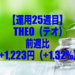 【運用25週目】THEO(テオ)の運用結果は前週比+1,223円(+1.32%)