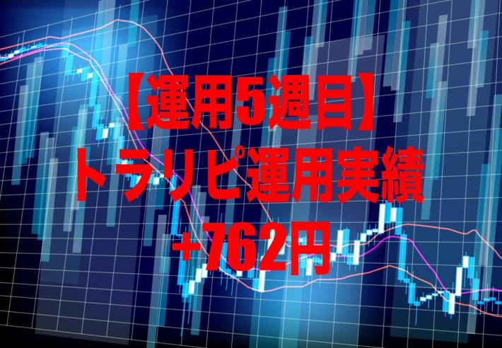 【運用5週目】トラリピの運用実績は+762円
