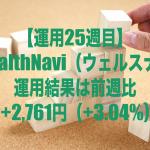 【運用25週目】WealthNavi(ウェルスナビ)の運用結果は前週比+2,761円(+3.04%)