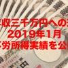 【年収三千万円への道】2019年1月の不労所得実績を公開