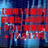 【運用15週目】トラリピの実質利益は前週比-488円で通算+17,917円