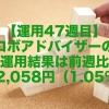 【運用47週目】ロボアドバイザーの運用結果は前週比+2,058円(1.05%)