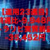 【運用23週目】トラリピの実質利益は前週比-9,948円で通算-35,452円