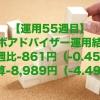 【運用55週目】ロボアドバイザーの運用結果は前週比-861円(-0.45%)、通算-8,989円(-4.49%)