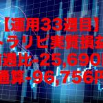 【運用33週目】トラリピの実質利益は前週比-25,690円、通算-96,756円