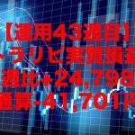 【運用43週目】トラリピの実質利益は前週比+24,798円、通算-41,701円