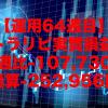 【運用64週目】トラリピの実質利益は前週比-107,730円、通算-252,956円