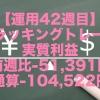 【運用42週目】トラッキングトレードの実質利益は前週比-51,391円、通算-104,522円