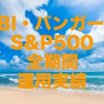 SBI・バンガード・S&P500(正式名称:SBI・バンガード・S&P500 インデックス・ファンド)全期間の運用実績