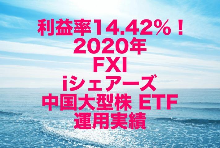 利益率14.42%!2020年のFXI(iシェアーズ 中国大型株 ETF)運用実績