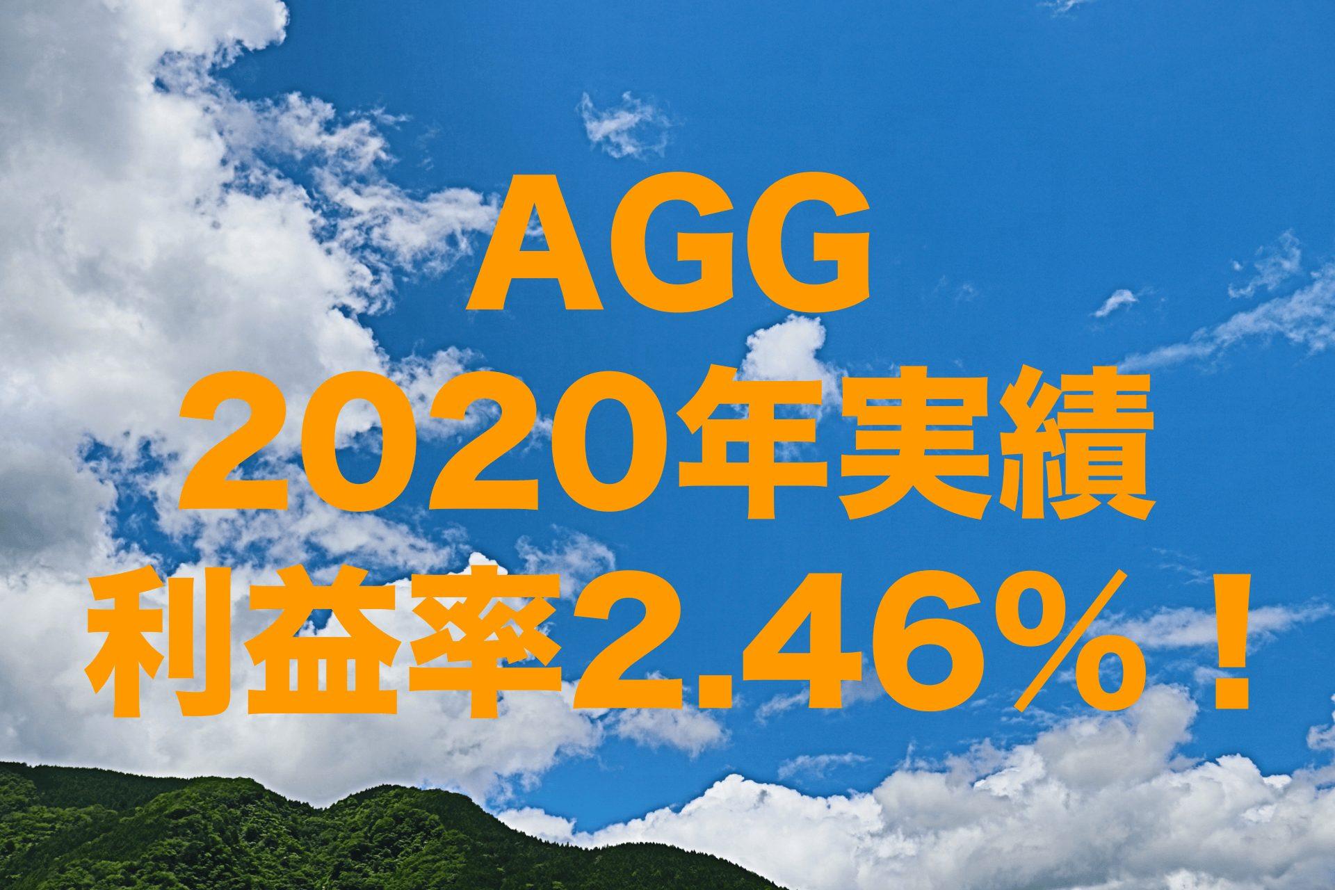 利益率2.46%!2020年のAGG(iシェアーズ・コア 米国総合債券市場 ETF)運用実績