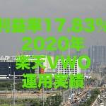 利益率17.83%!2020年の楽天VWO(楽天・バンガード・ファンド(新興国株式))運用実績