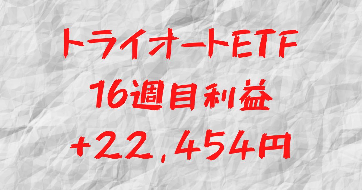 トライオートETF 16週目利益+22,454円
