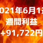 【2021年6月1週】週間利益+91,722円