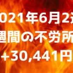 【2021年6月2週】1週間の不労所得+30,441円