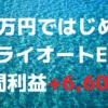 「40万円ではじめるトライオートETF」週間利益+6,601円(4週目)