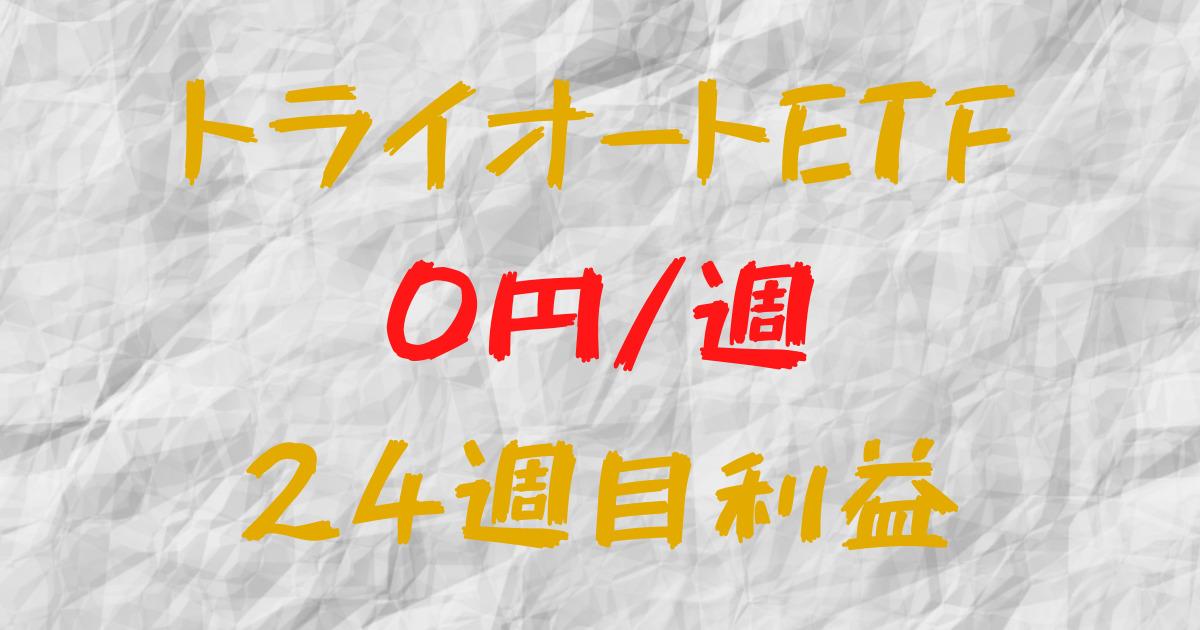 トライオートETF 週間利益+0円(24週目)