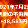 【2021年7月2週】1週間の不労所得-48,583円