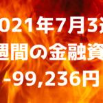 【2021年7月3週】1週間の金融資産-99,236円