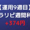 【運用9週目】トラリピ週間利益+374円