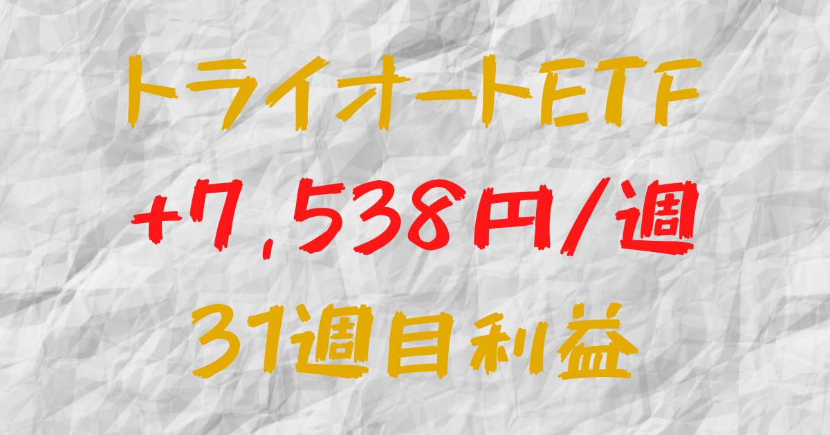 トライオートETF 週間利益+7,538円(31週目)