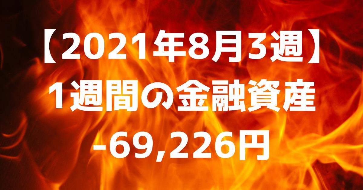 【2021年8月3週】1週間の金融資産-69,226円