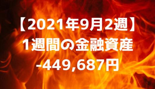 【2021年9月2週】週間の金融資産-449,687円