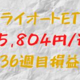 トライオートETF 週間損益+5,804円(36週目)