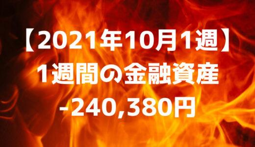【2021年10月1週】週間の金融資産-240,380円